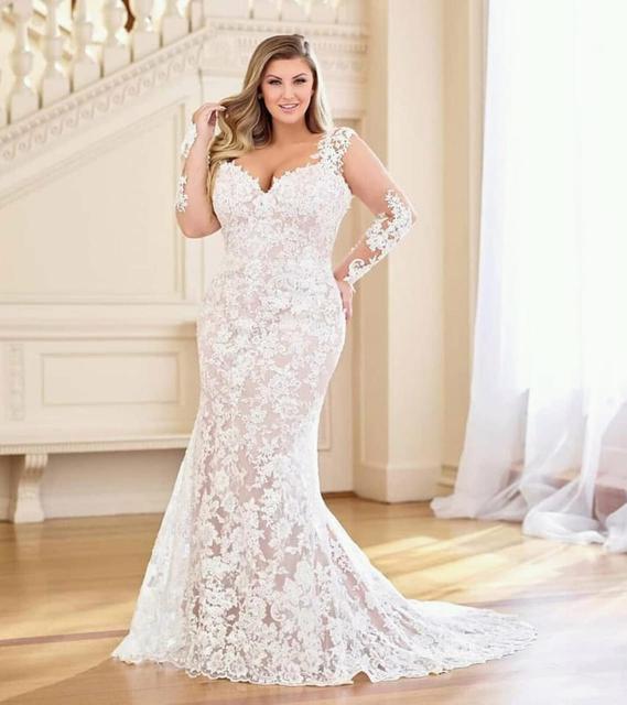 Eslieb high quality lace plus size wedding dresses Wedding dress 2020