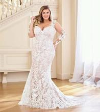 Eslieb hohe qualität spitze plus größe hochzeit kleider Hochzeit kleid 2020