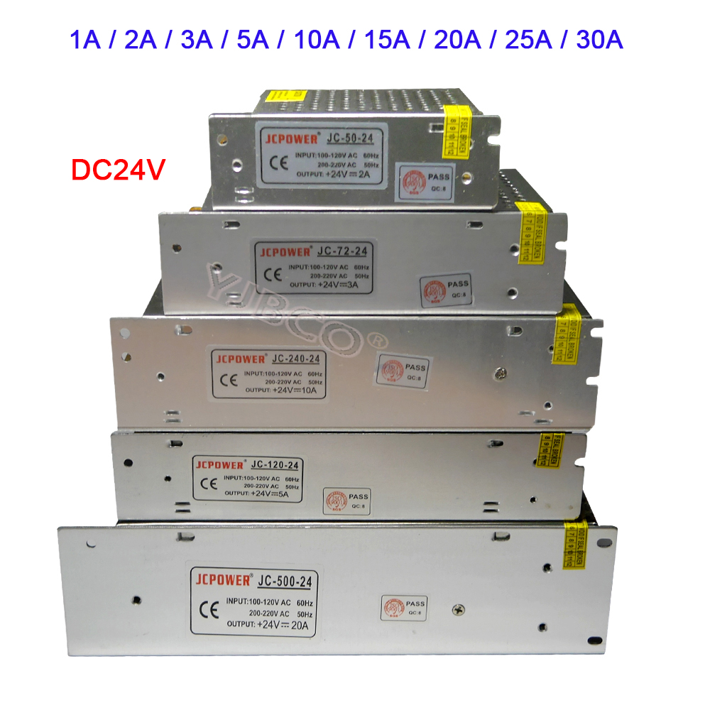 Wholesale DC 24V led Lighting Transformer 1A 2A 3A 5A 10A 15A 20A 25A 30A strip Switching Power Supply lamp Light driver