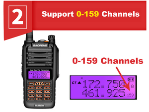 Image 3 - 2021 Walkie Talkie a lungo raggio 50km Baofeng UV 9R Plus 160CH Radio bidirezionale VHF UHF Radio Station UV9R Plus CB Ham HF Transceiver