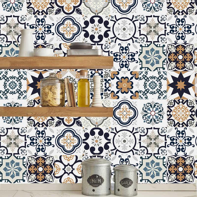 3D Tiles Wall Sticker Bathroom Kitchen Room Art Mural Mosaic Moroccan Waterproof