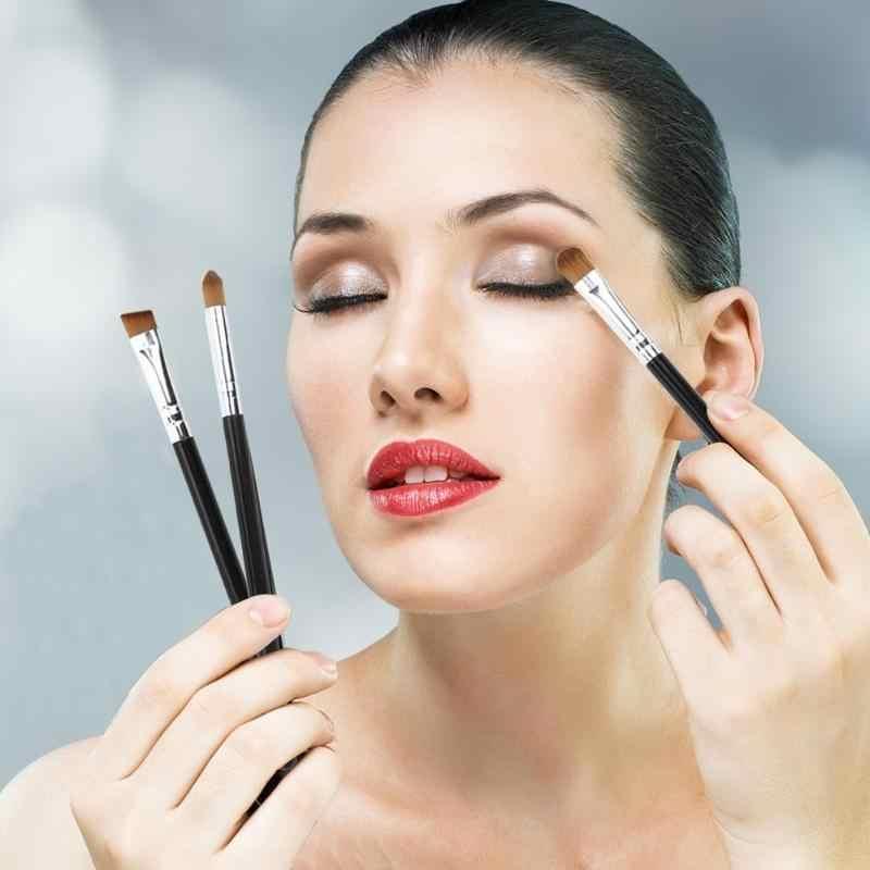 Panas 1/3Pcs MAKEUP SIKAT Kosmetik Kuas Kabuki Wajah Hidung Sikat Concealer Foundation Eyebrow Eyeliner Blush Bubuk Makeup alat