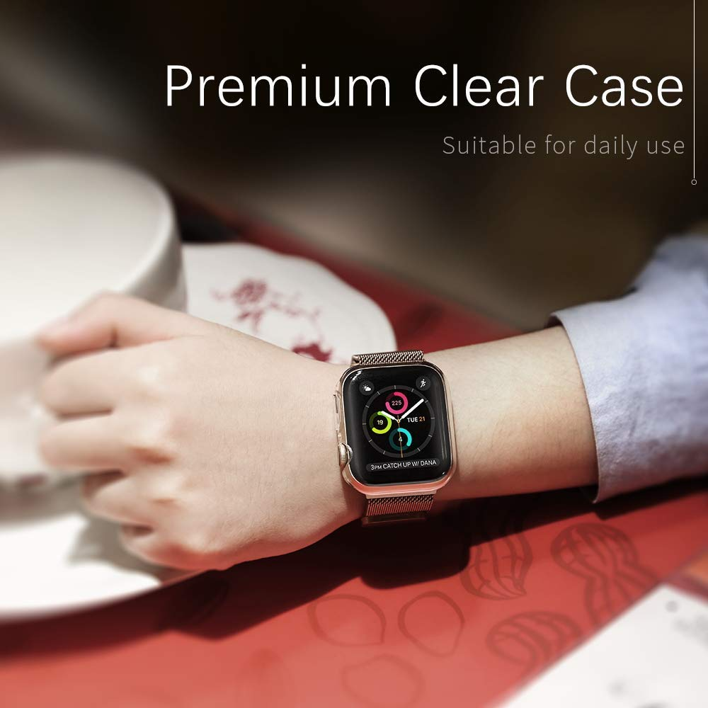 Premium clear tpu case for Apple Watch