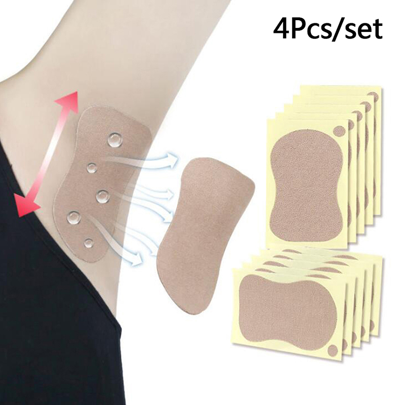 4pcs Underarm Adhesive Sweat Pad Armpit Antiperspirant Deodorant Sweat-absorbent Stickers Sweat Pad