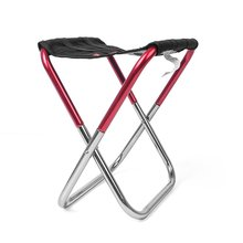 Portable Aluminum Folding Chair Stool Seat Outdoor Fishing Camping Picnic Padded   Folding Chair Fishing folding portable outdoor fishing chair backpack playing climbing outdoor portable folding stool backpack high quality