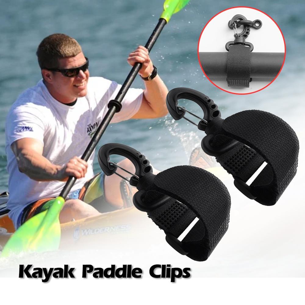 2pcs Nylon Paddle Clips Fishing Rod Holder Keeper Canoe Kayak Accessories