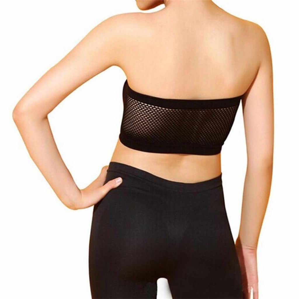 Muqgew sexy sutiã sem alças para mulher respirável sem costura tubo sutiã lingerie macia alta elástica envolto invisível push up bra