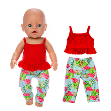 2019 New Fashion casual Doll Clothes Fit For 43cm baby Doll clothes reborn Doll Accessories