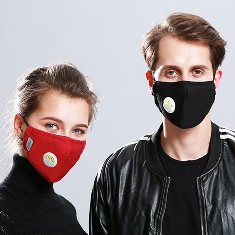 H871ba675997a4d7a89d22f29cde8506c7 Korean Fabric mouth face mask PM2.5 Anti Haze/Anti dust mouth mask Respirator mascaras With Carbon Filter Respirator Black Mask
