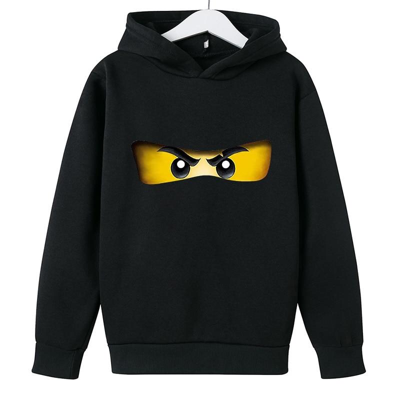 Cartoon comic Pullover kid top Autumn winter Clothes Ninjago hoodie Boy cotton Long sleeve Casual Sweatshirt Legoe Toy printing 1