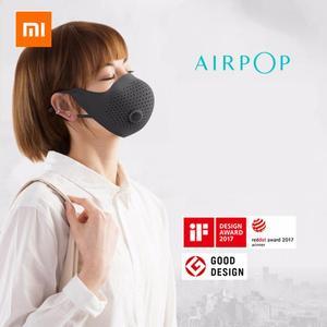 Image 3 - Xiaomi mijia AirPOP Air Wear PM0.3 / pm2.5 антидымчатая маска для лица с 2 шт фильтром регулируемые Висячие удобные маски для лица