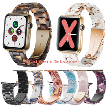 Ceramics Resin Band for Apple Watch Series 4 5 3 2 1 Resin Band Men Women Strap for iWatch 40/44/38/42mm Watchband Accessories