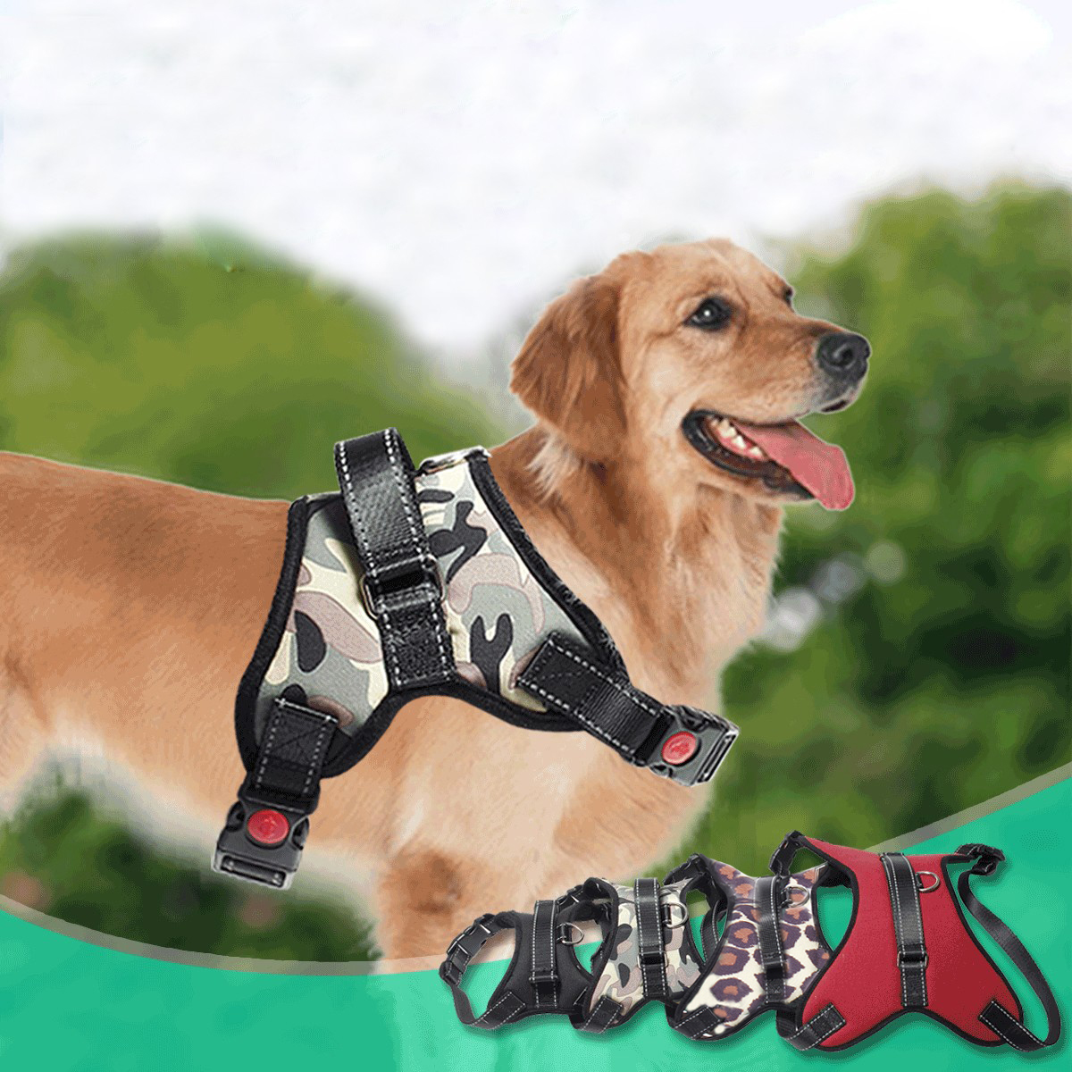 Pet Control Harness Dog Harness Soft Reflective Walk Out Hand Strap Vest Collar