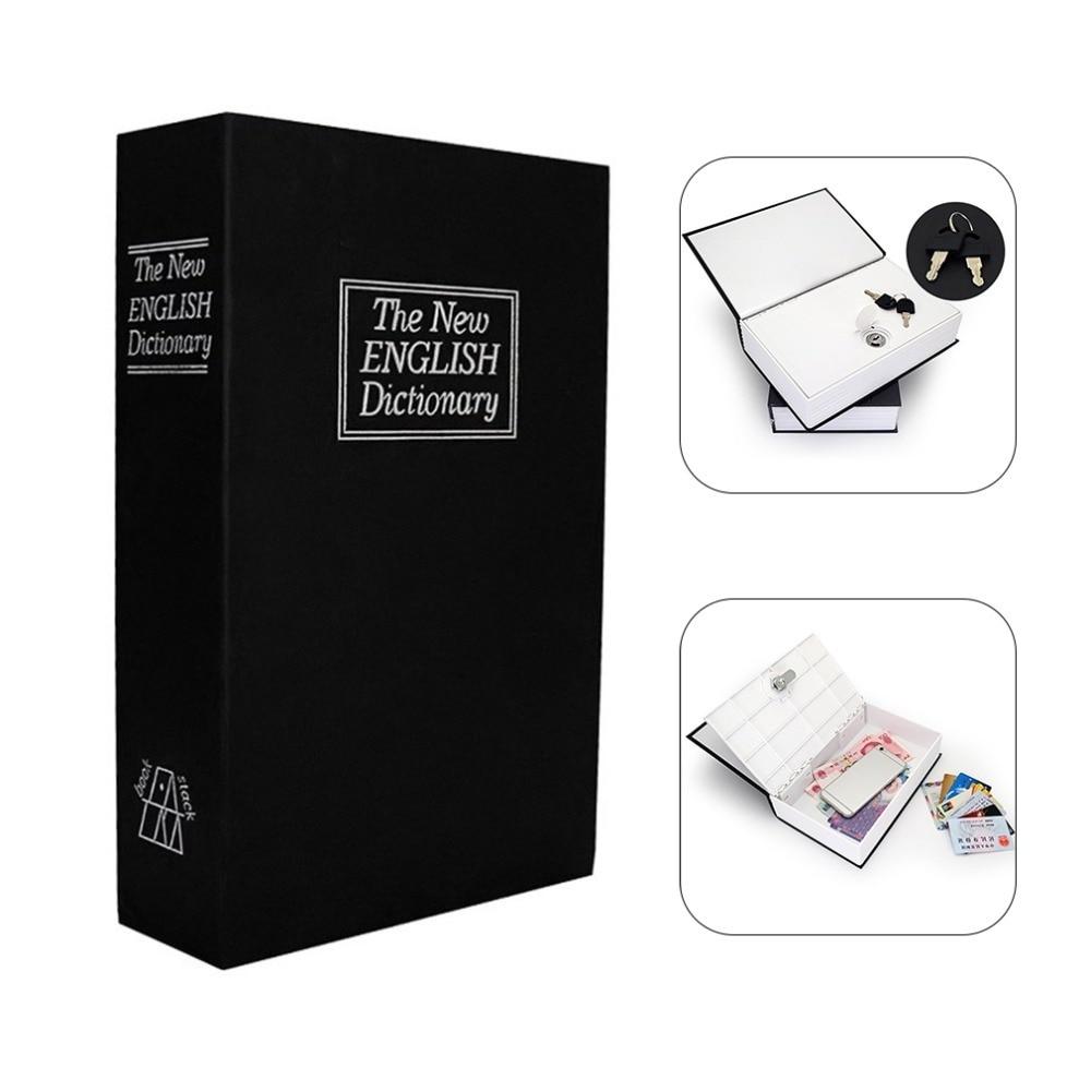 MIni Home Security Dictionary Key Book Safe/Lock Box/Storage/Piggy Bank Creative Money Box Home Accessories