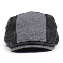 2020 stripe patchwork Newsboy Caps Men Cotton Flat Peaked Ca
