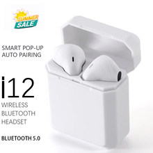 Brightside i12 tws Bluetooth kablosuz kulaklıklar Mini mikrofonlu kulaklık şarj kutusu cep telefonu için spor oyun kulaklığı