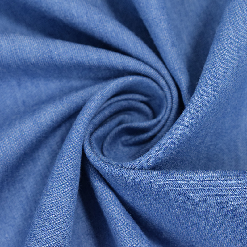 4.5oz denim fabric washed plain woven 32S 100% cotton for T-shirts