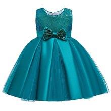 Зимнее платье принцессы для 3 лет; Новая модель; рождественские вечерние платья-пачки без рукавов; летнее платье для девочек