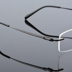 Vazrobe, титановые очки, оправа, мужские очки без оправы, мужские очки по рецепту, очки для оптического получения, очки для близорукости