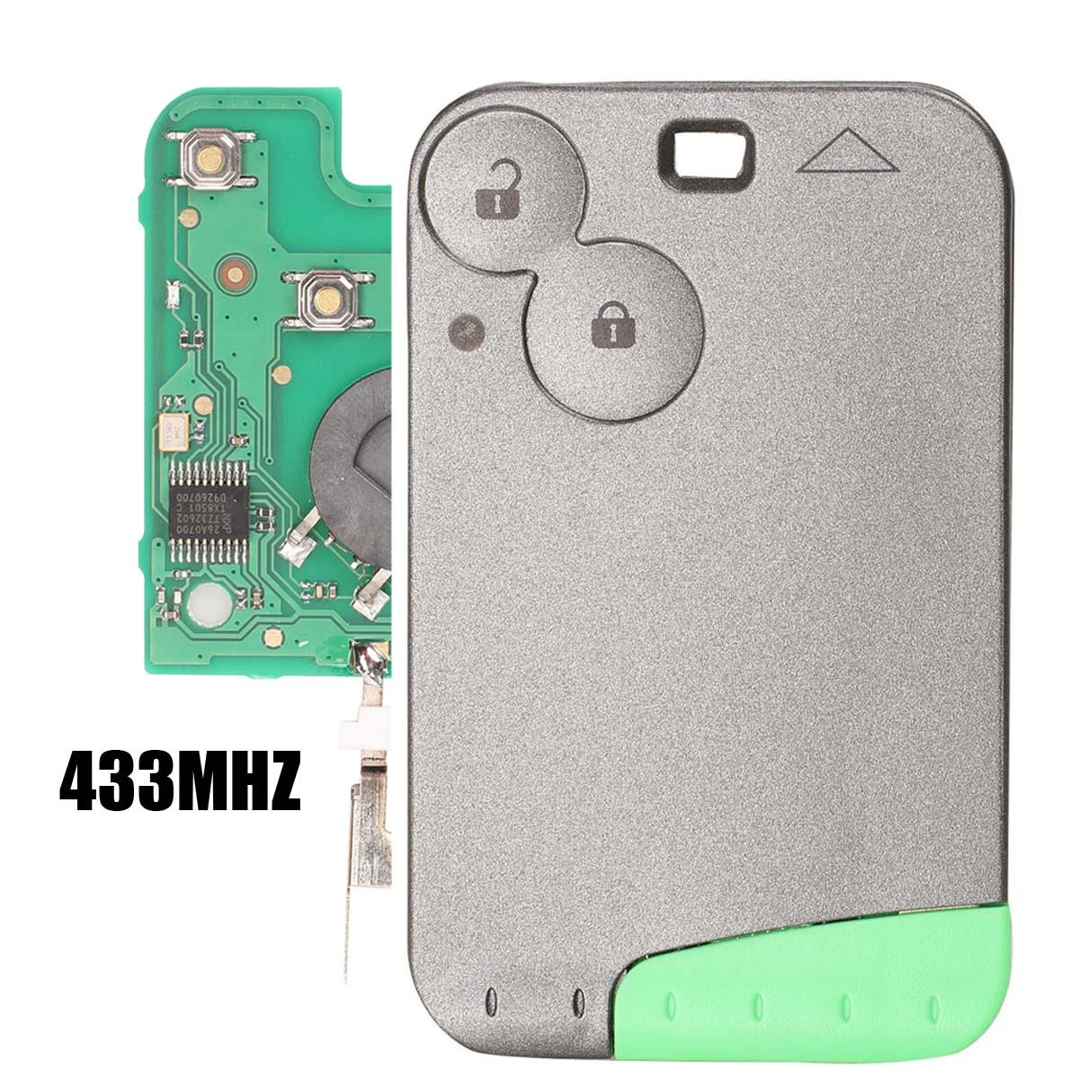Jingyuqin 433 MHz Pcf7947 Chip 2 Tasten Fernbedienung Auto Schlüssel Karte Shell Fall Mit Klinge Für Renault Laguna mit Uncut schlüssel Klinge