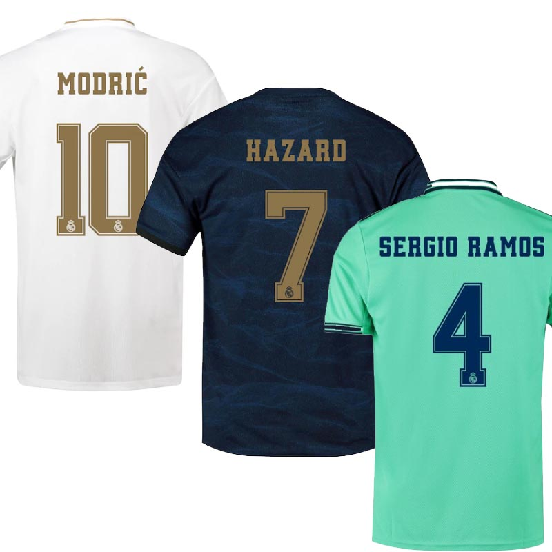 19 20 Real Madrided Adult T-shirt Soccer Jersey 2020 Home Away 3RD Hazard ISCO MODRIC Football Shirt Size S-2XL Free Shipping