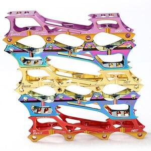 Image 2 - Roller Skate  Banana Frame 7075 Aluminium Alloy Inline Blade Skate Shoes Racks Holders 219mm 231mm 243mm With 8pcs Axes