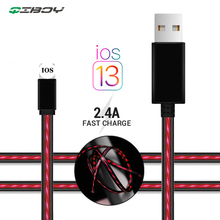 Micro USB Magnetic LED Luminous Cable for Samsung S10 Type-C Fast Charging Wire iPhone 1M Charger Type C Cables