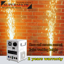 2pcs/Lot Most Popular MINi 650w Cold Spark Fireworks Machine  DMX Remote Fountain Sparkers for Wedding Stage