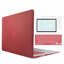 CrystalMatte Soft-touch Hard Case For Apple Macbook Air Pro Retina 11 12 13 15 Laptop Bag For New MacBook Air Pro 13 Case Cover