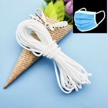 5/10/20m Elastic Rubber Band 3mm Round Elasticity Strap Rope for DIY Face Mouth Mask Crafts