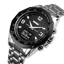 SKMEI Smart Watch Men Compass Alarm Calorie Calculation Dual Display Watches Quartz Wristwatches relogio masculino 1464