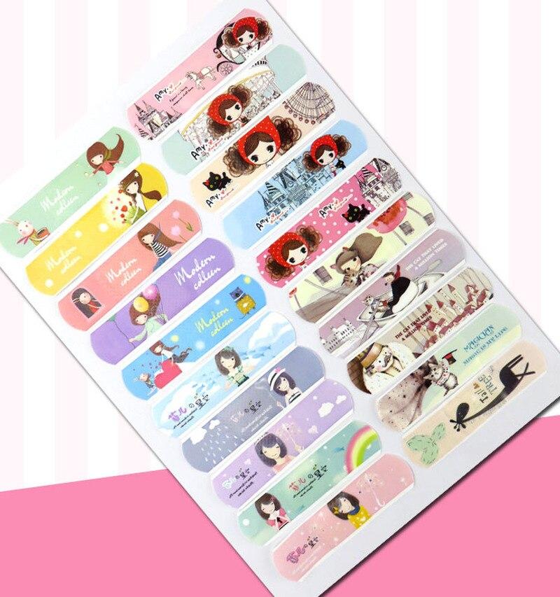 Cartoon Band-aid Cute Korean Children's Breathable Waterproof Band-aid Hemostatic Wound Medical Ok Stretch Wear Foot 100 Pieces