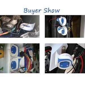 Image 2 - 115dB Loud Horn Auto Speaker Alarm 12V Tone Vehicle Boat Car Motor Motorcycle Van Truck Siren Car Horn signal for auto siren