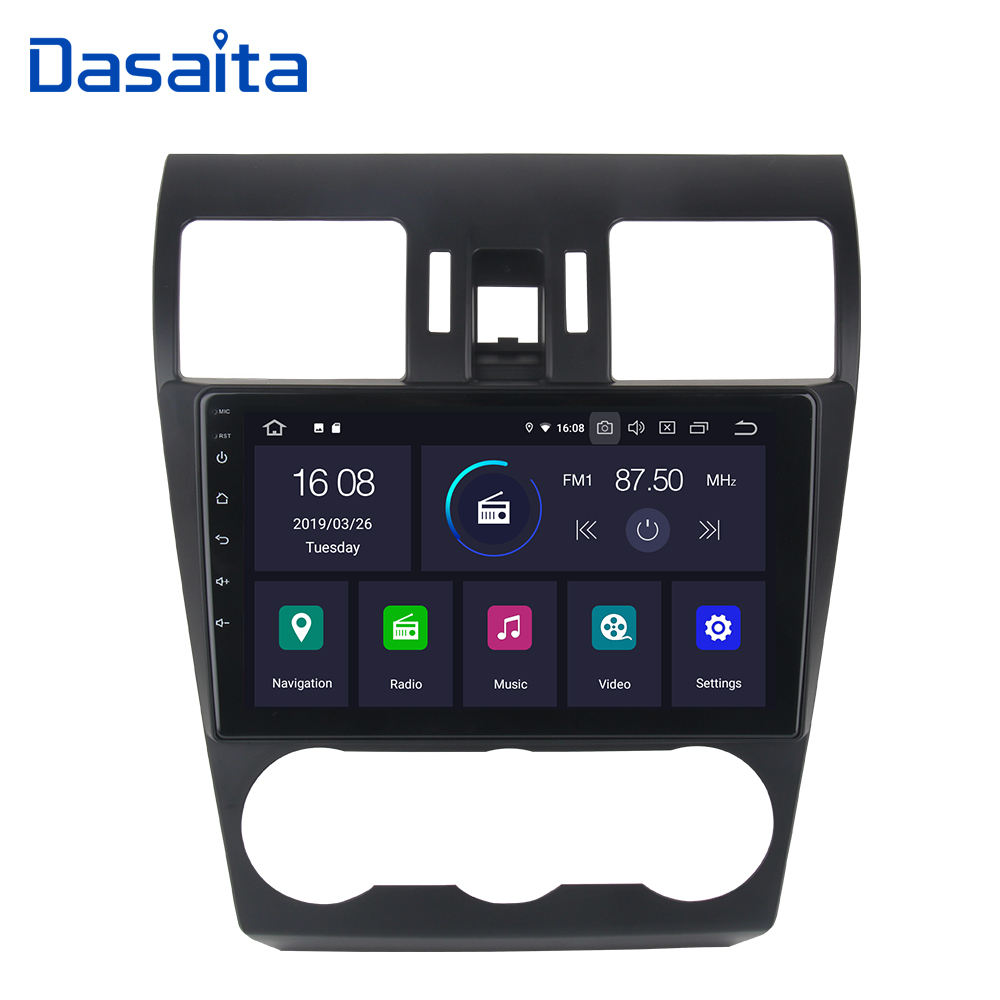Dasaita Android 9.0 Car GPS Radio Player for Subaru WRX 2013 2014 2015 with 9 IPS Touch Screen Autoradio 1 din Bluetooth WiFi image