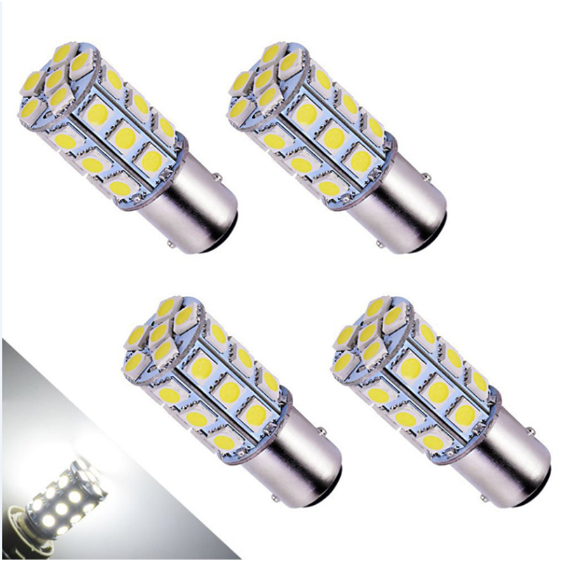 4PCs 5050 1156 BA15S 27SMD White <font><b>LED</b></font> <font><b>Bulb</b></font> Lamp <font><b>P21w</b></font> R5W R10W 1157 <font><b>Led</b></font> <font><b>Bulbs</b></font> Turn Signal Reverse Lights Car Light Tail Parking image
