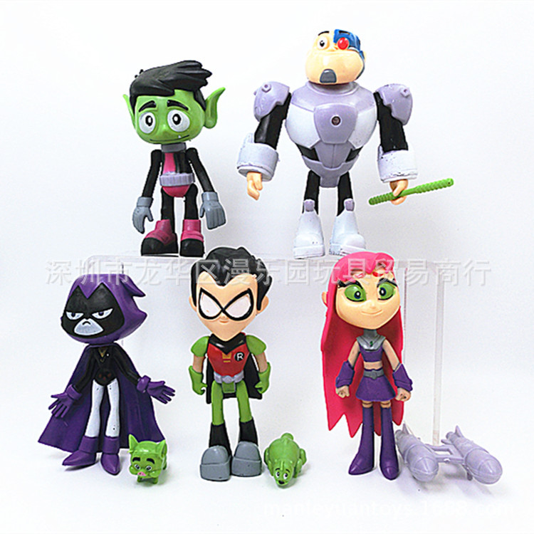 ThinkEasy 13cm Pvc Super Hero Action Toy Figures Doll Teenage Young Unicorn Bat Figure Dolls for Girl