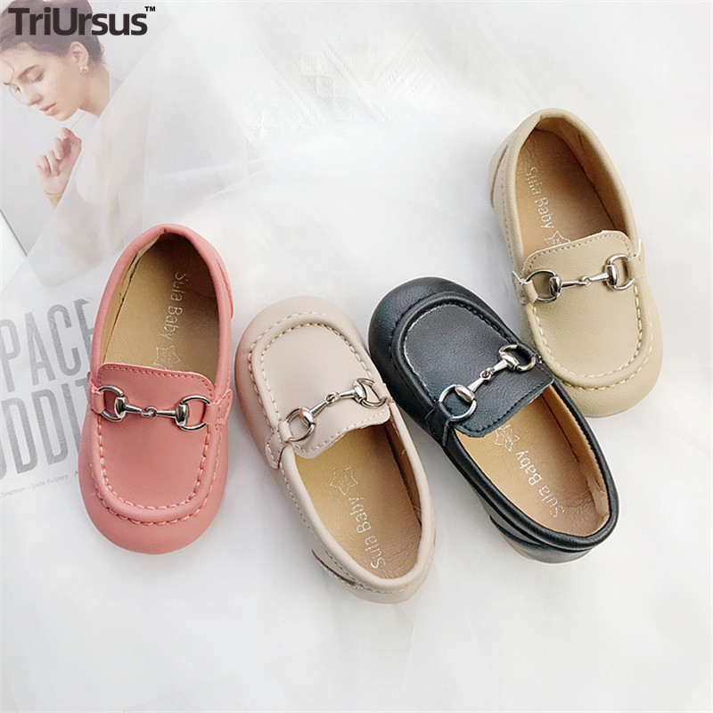 Triursus New Arrival Children Casual Shoes Anti-Slippery Children's Shoes PU Leather Rubber Sole Toddler Girls Boys Loafers