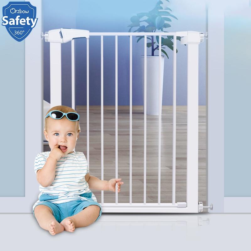 Porta ajustável da porta de segurança do bebê gato do cão de estimação cerca porta da escada metal porta de ferro de grande resistência para a segurança das crianças