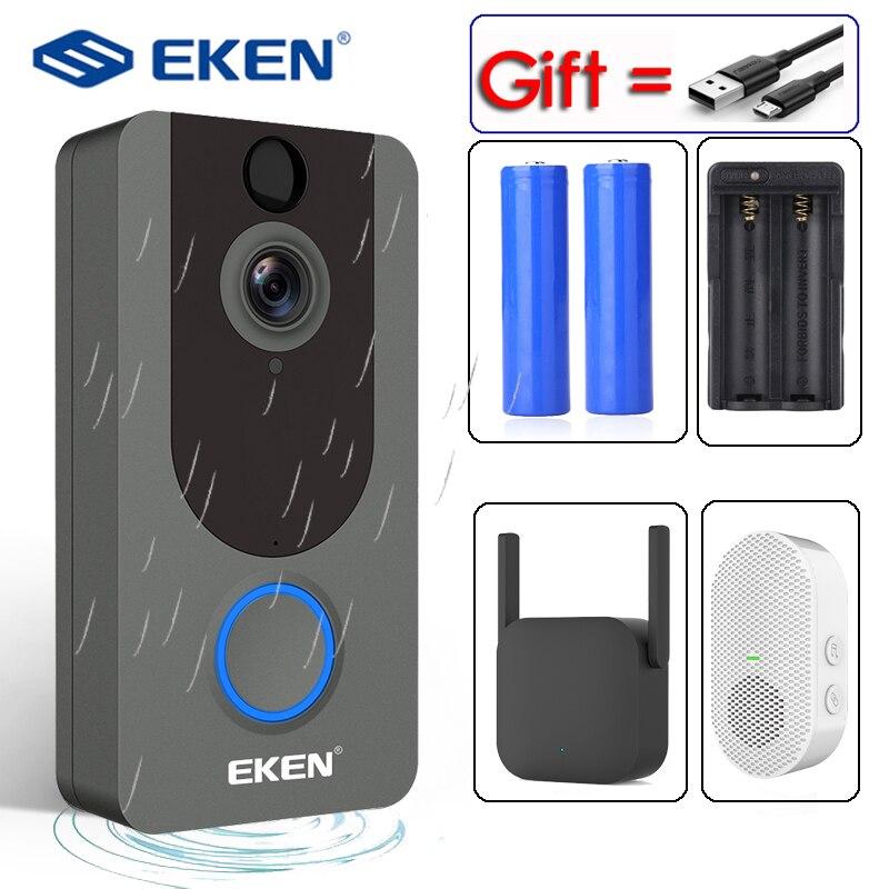 EKEN V7 1080P Smart WiFi видео дверной звонок камера визуальная связь с IP Chime дверной звонок беспроводная домашняя камера безопасности|Дверной звонок|   | АлиЭкспресс