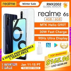 Realme 6 s 6 s versão global 4gb ram 64gb rom/6gb 128gb helio g90t 6.5