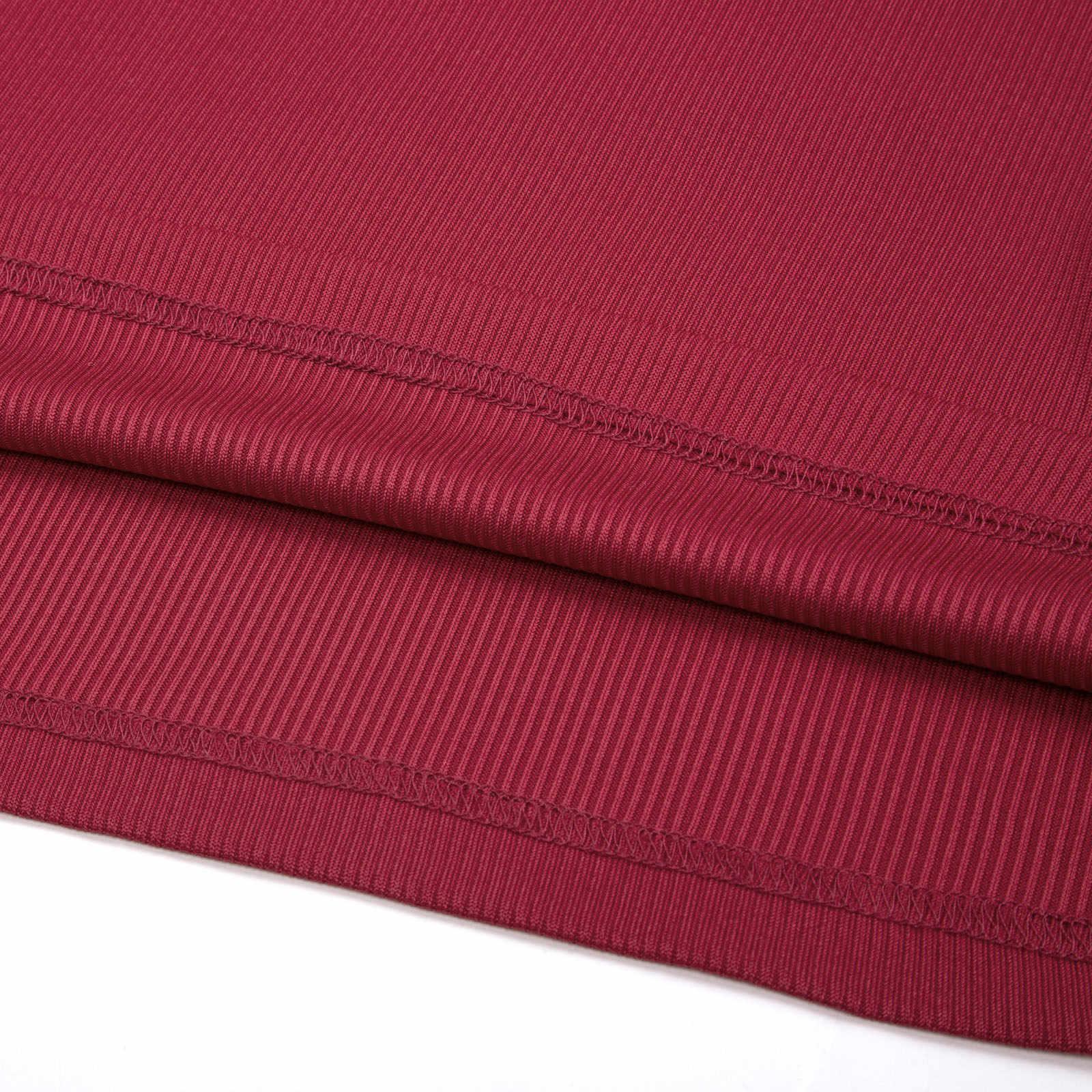 Красное платье Серый Черный Grace Karin женский базовый с длинным рукавом V шеи 4 Кнопки Украшенные тепловой трикотажной отделкой