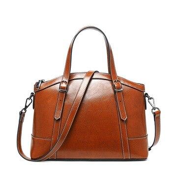High Quality Female Bag 2019 New Fashion Genuine Leather Luxury Handbags Women Bags Designer Shell Bag Shoulder Bag Messenger