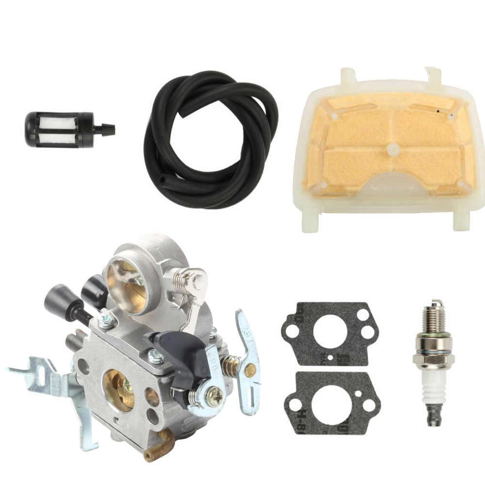 1 * carburateur + 2 * Pakkingen + 1 * Air filter + 1 * brandstofleiding kit Voor Stihl MS171 MS181 MS211 ZAMA C1Q-S269 Kettingzaag