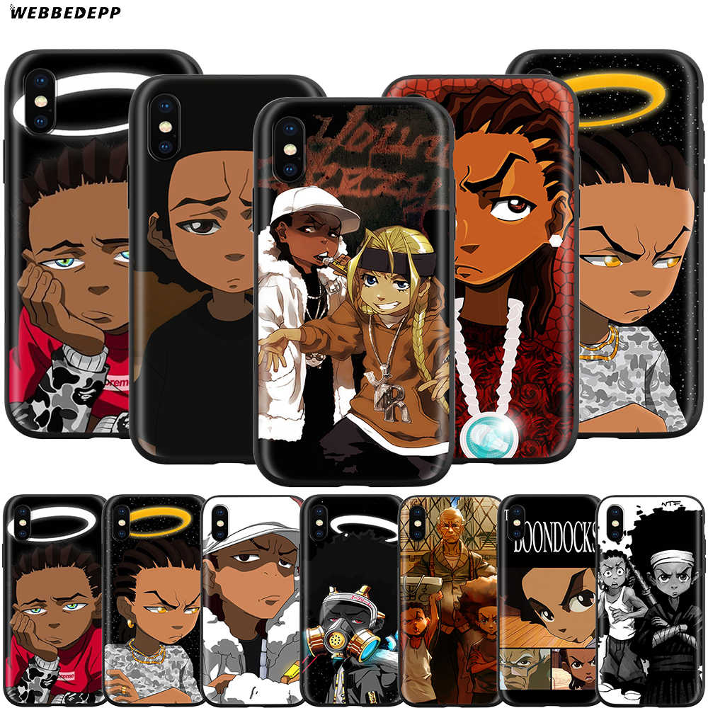 Webbedepp obudowa Boondocks do Apple iPhone 11 Pro XS Max XR X 8 7 6 6S Plus 5 5S SE