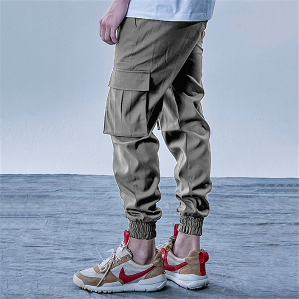 New Style Men's Cargo Pants Running Training Loose Long Pants Male Casual Jogger Sweatpants High Quality Solid Brand Trousers 4