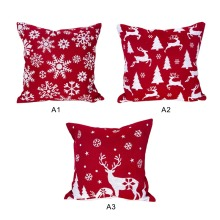 купить Pillowcase Red Christmas Pattern Printed Throw Pillow Cover Snowflake Square Pillowcase Cover 1PC по цене 280.06 рублей