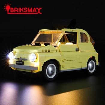 BriksMax Led Light Kit For 10271 Creator Fiat 500 Car Toys Building Blocks Model Lighting Set 960pcs building blocks compatible for lepining 10271 fiated 500 city technic car creator series model children kids gift toys
