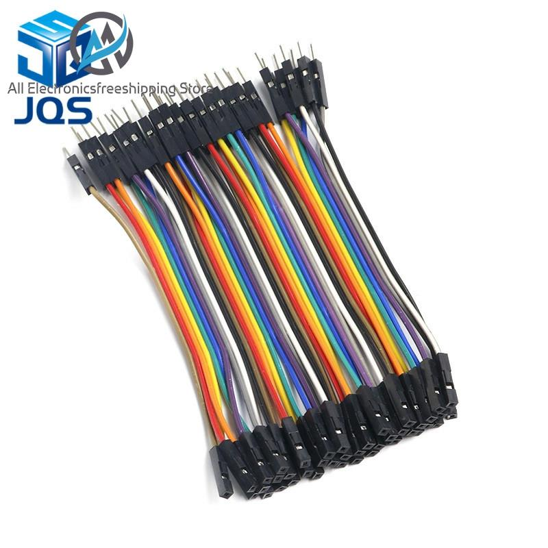 40pcs Dupont Wire Cable 30cm Female to Female Connector 2.54mm for Arduino