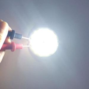 Image 4 - 3 فولت 4 فولت مستدير COB مصباح ليد 50 مللي متر قطر حلقة مزدوجة الباردة الأبيض LED مصباح 3.7 فولت 5 واط 7 واط COB رقاقة لمبة ل Work بها بنفسك العمل منزل ديكور أضواء