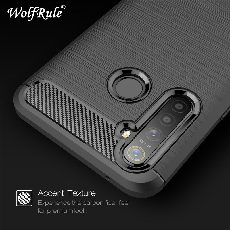 WolfRule Realme 5 Pro Case Realme Q Cover Shockproof Soft TPU Brushed Back Phone Case For Oppo Realme 5 Pro Funda 6.3